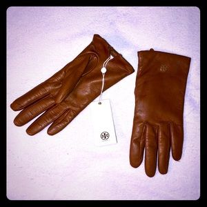 Tory Burch Leather Tech Gloves